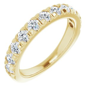 14K Yellow 1 CTW Diamond French-Set Anniversary Band