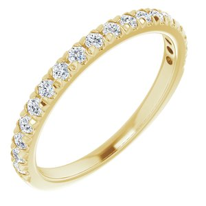 14K Yellow 1/3 CTW Diamond French-Set Anniversary Band