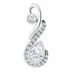 14K White Freeform 1/2 CTW Diamond Pendant