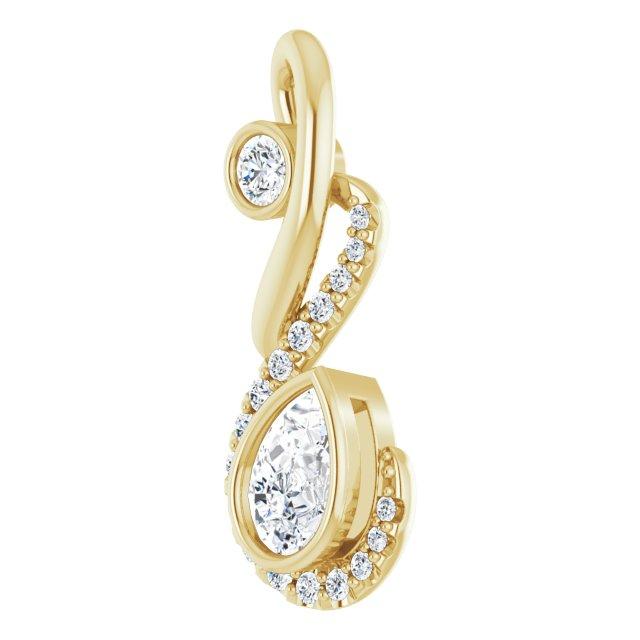 14K Yellow Freeform 1/2 CTW Diamond Pendant