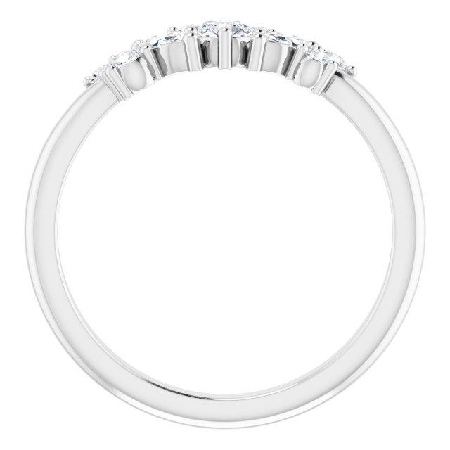 Platinum 1/3 CTW Diamond Multi-Shape Ring