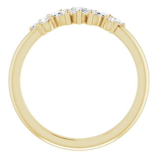 14K Yellow 1/3 CTW Diamond Multi-Shape Ring