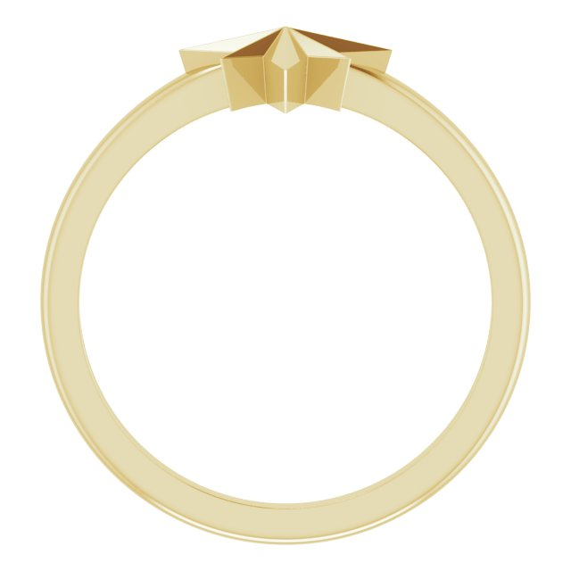 14K Yellow Starburst Ring