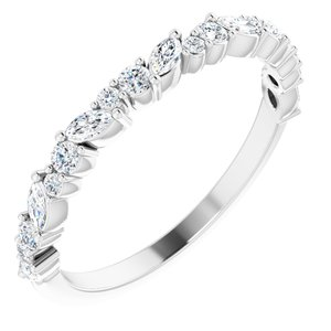 14K White 3/8 CTW Diamond Anniversary Band