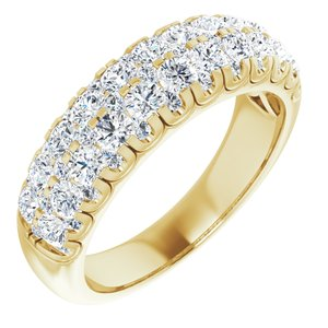 14K Yellow 1 1/2 CTW Diamond Anniversary Band Size 9.25