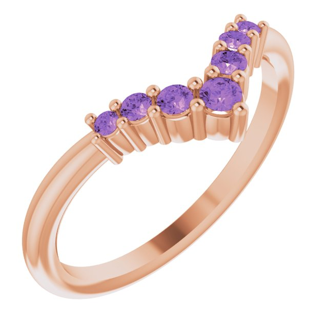 14K Rose Amethyst Graduated