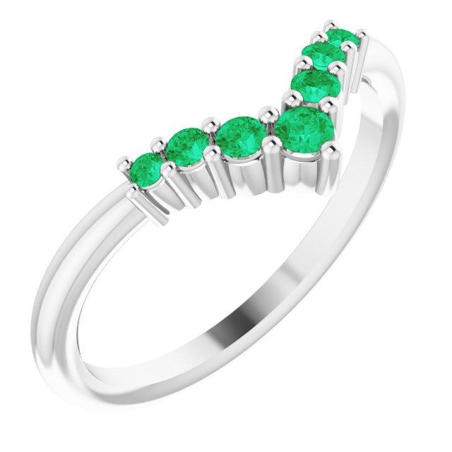 14K White Emerald Graduated