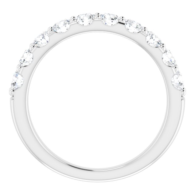 14K White 1 CTW Diamond Anniversary Band