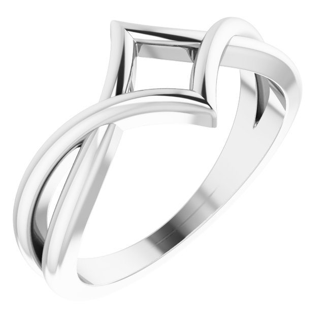 Sterling Silver Geometric Negative Space Ring
