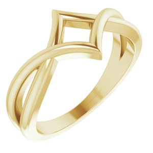 14K Yellow Geometric Negative Space Ring