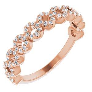 14K Rose 1/4 CTW Diamond Circle Ring