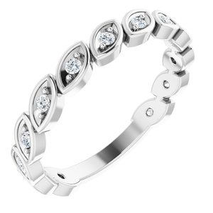 14K White 1/5 CTW Lab-Grown Diamond Anniversary Band