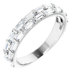 Platinum 3/4 CTW Diamond Anniversary Band