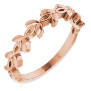 14K Rose Stackable Marquise Design Ring