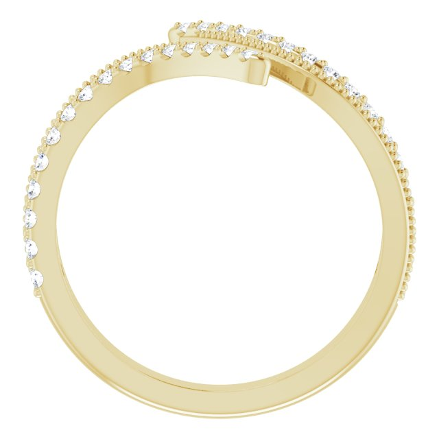 14K Yellow 1/4 CTW Diamond Bypass Ring
