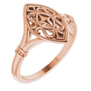 14K Rose Vintage-Inspired Ring