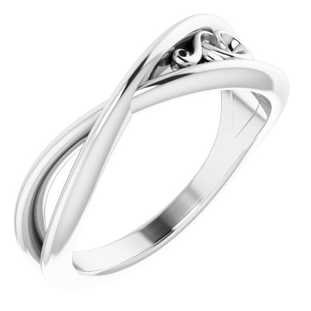 14K White Sculptural-Inspired  Ring