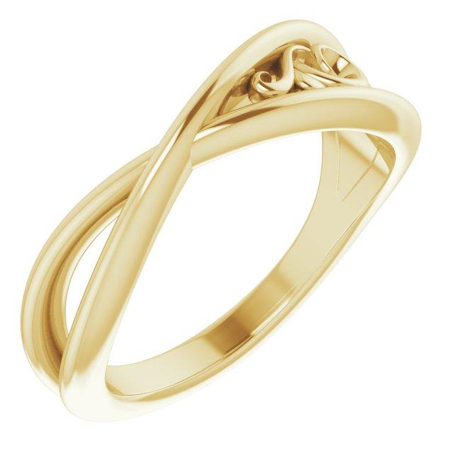14K Yellow Sculptural-Inspired  Ring