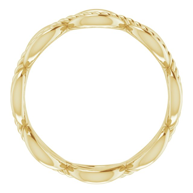 14K Yellow Rope Design Band Size 6