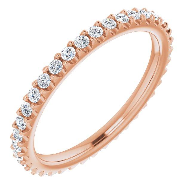 14K Rose 1/3 CTW Diamond Eternity Band Size 5