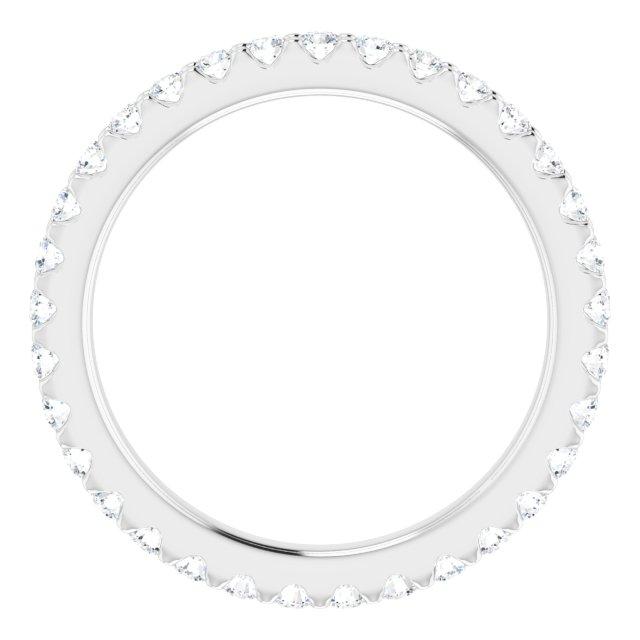 14K White 1/2 CTW Diamond Eternity Band Size 5