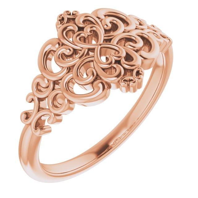 14K Rose Vintage-Inspired Ring