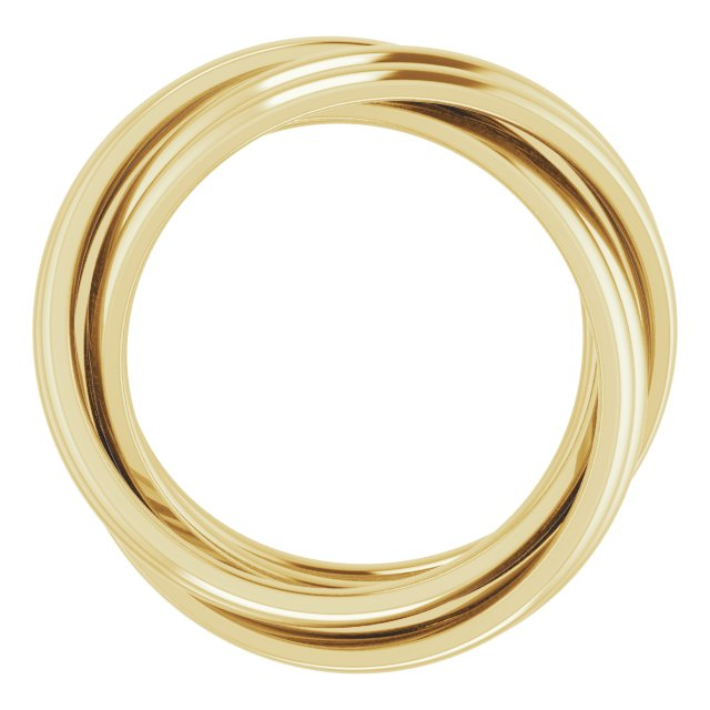 14K Yellow 6-Band Rolling Ring Size 8