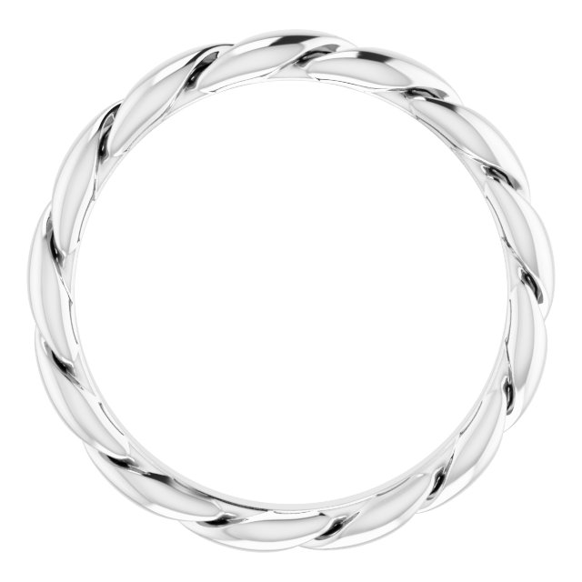 14K White 3 mm Twisted Band Size 7