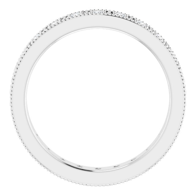 14K White 1/2 CTW Diamond Eternity Band Size 7