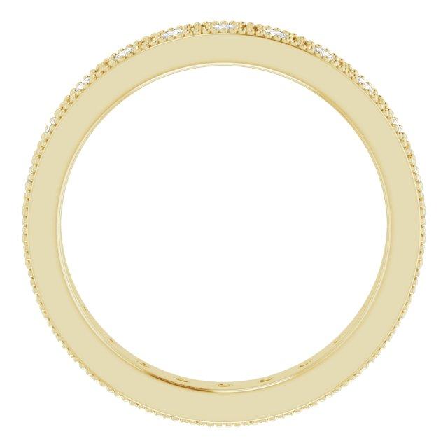 14K Yellow 1/2 CTW Diamond Eternity Band Size 7