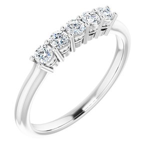 14K White 2.5 mm Round 1/3 CTW Diamond Anniversary Band
