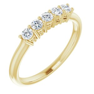 14K Yellow 2.5 mm Round 1/3 CTW Diamond Anniversary Band