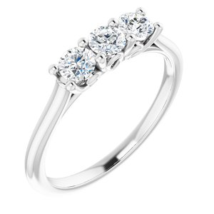 14K White 3.5 mm Round Forever One™ Moissanite Anniversary Band