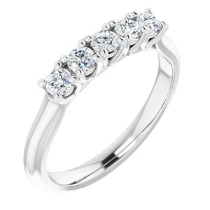 14K White 1/2 CTW Diamond Anniversary Band