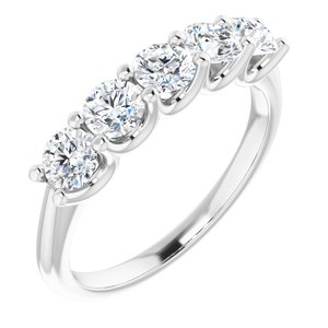 14K White 1 CTW Diamond Anniversary Band