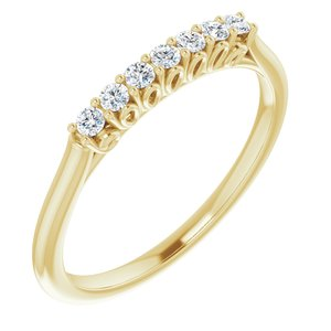 14K Rose 3/8 CTW Diamond Anniversary Band