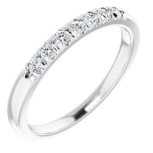 14K White 1/4 CTW Lab-Grown Diamond Anniversary Band