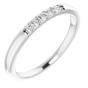 14K White 1/10 CTW Diamond French-Set Anniversary Band