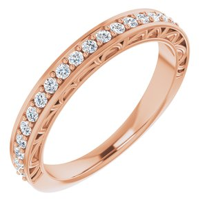 14K Rose 1/3 CTW Diamond Anniversary Band