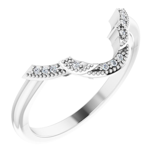 14K White .025 CTW Diamond Matching Band