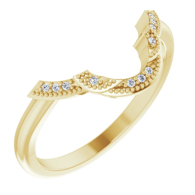 14K Yellow .025 CTW Diamond Matching Band