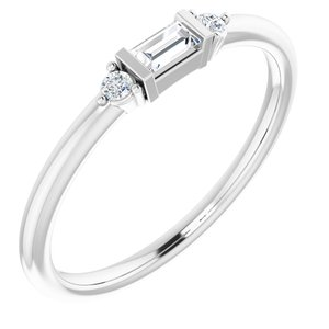 Platinum 1/8 CTW Diamond Anniversary Band
