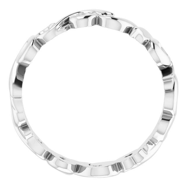 14K White 5 mm Sculptural Band Size 6