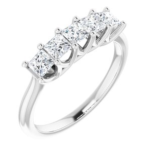 14K White 3/4 CTW Diamond Anniversary Band
