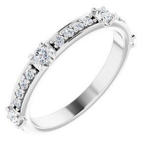 14K White 2.5 mm Round 1/2 CTW Diamond Anniversary Band
