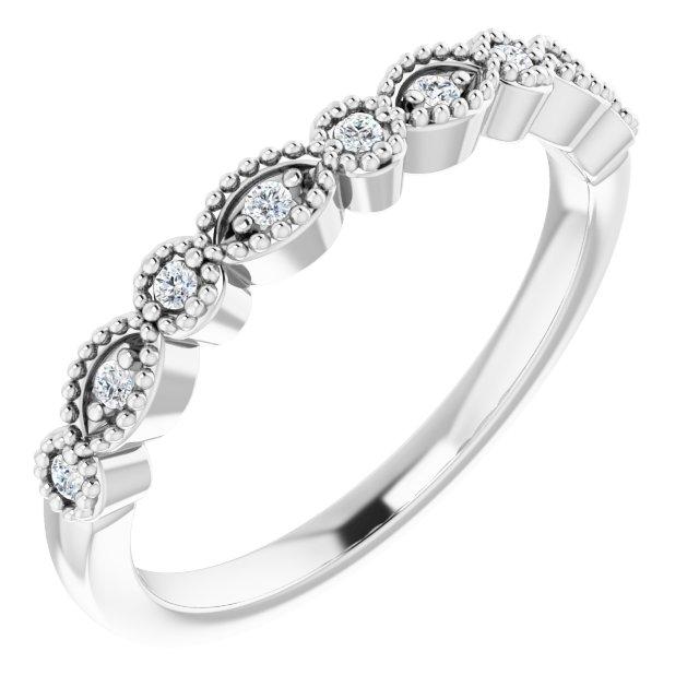 14K White .08 CTW Diamond Matching Band