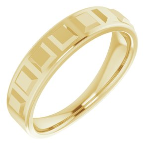 14K Yellow Geometric Ring
