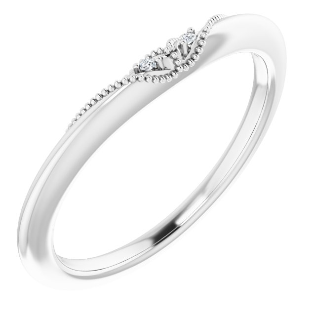 14K White .01 CTW Diamond Matching Band