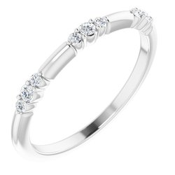 124033 / Unset / Continuum Sterling Silver / Polished / Stackable Ring Mounting