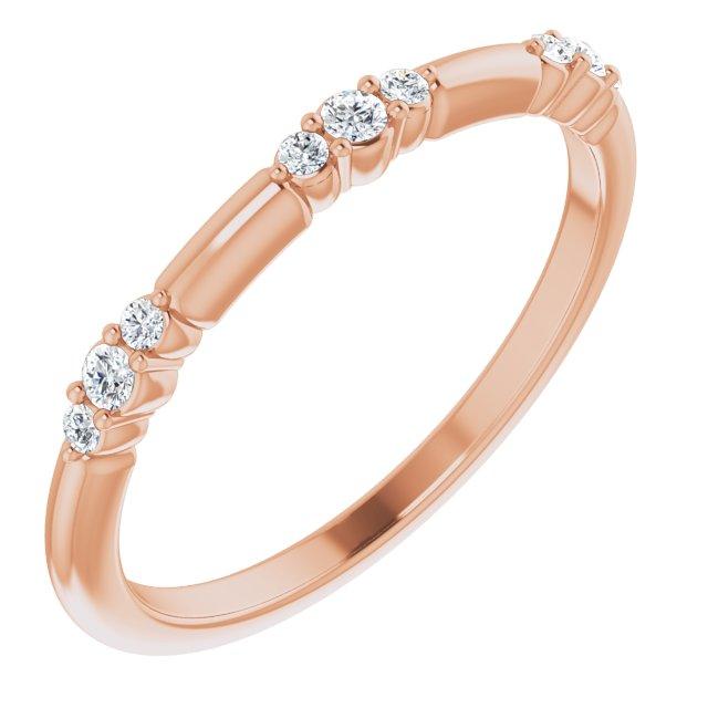 14K Rose 1/10 CTW Diamond Stackable Ring